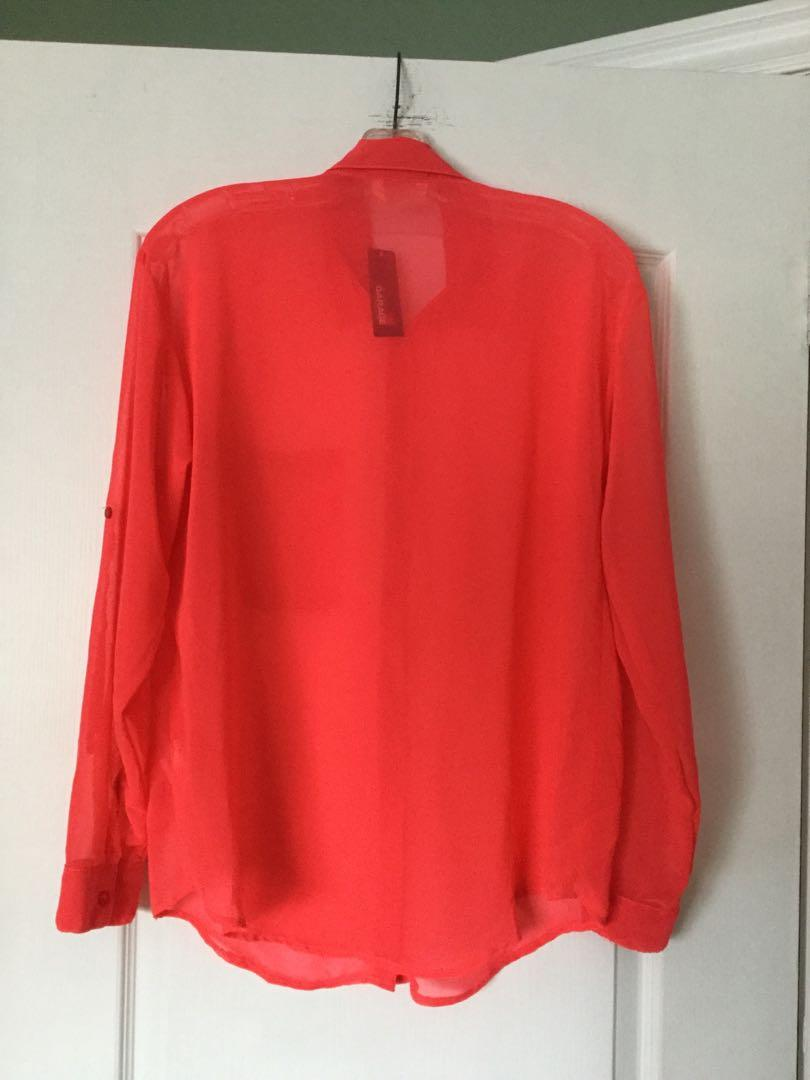 Chiffon blouse from GARAGE. Size Medium. Brand new, Tag 🏷 still attached.