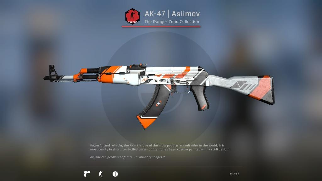 CSGO AK-47 | Asiimov (Field-Tested) _csgo skins _csgo ak47 skin, Toys & Games, Video Gaming, In-Game Products on Carousell