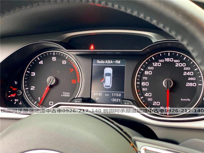 【FB搜尋桃園阿承】奧迪 超人氣A4跑5萬 2015年 1.8CC 黑色 二手車 中古車
