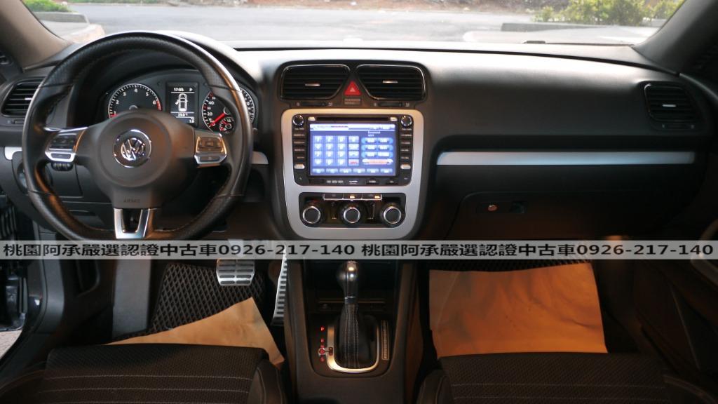 【FB搜尋桃園阿承】福斯 超人氣SCIRCOCO 2010年 1.4CC 黑色 二手車 中古車