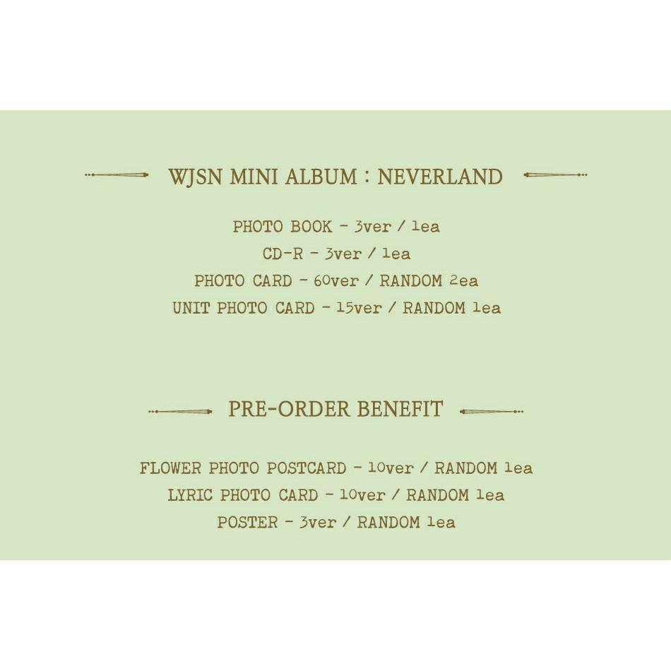 (FREE POSTAGE) WJSN Cosmic Girls - Mini Album: Neverland