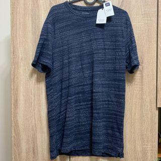 [全新]‼️全賣場🈵️500免運‼️ GAP 男生 深藍T恤 Men T-shirt 短袖上衣 短袖T恤 M