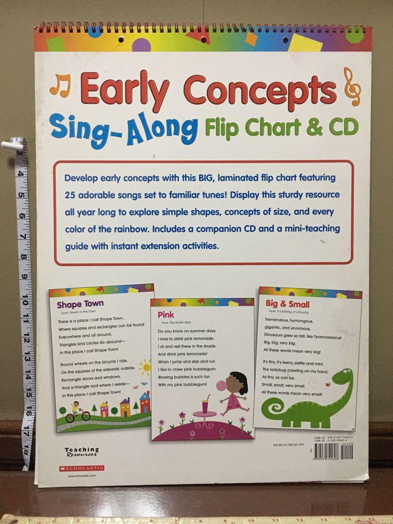 Giant Learning Flip Chart CD - Early Concepts Sing Along - Scholastic Teaching Resources - NEW