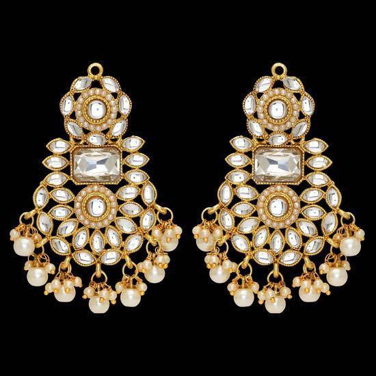 Indian Bridal Party Bollywood Kundan Necklace, Earrings & Maang Tikka