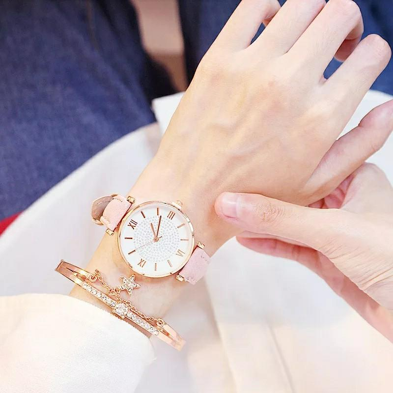 Luxury  Watches And Bracelet Set For Women | Girls