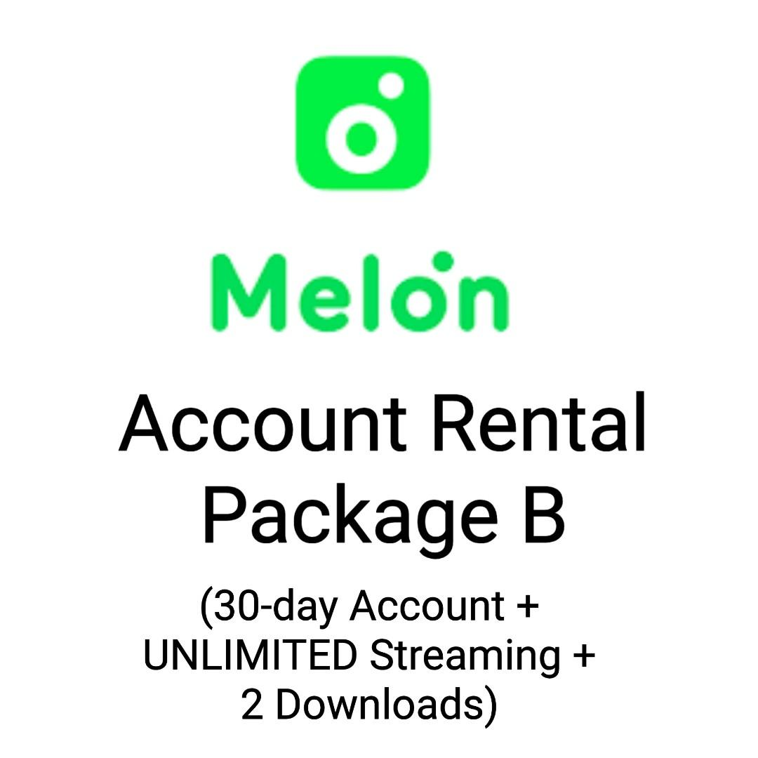[Melon] - 30-day account + UNLIMITED streaming + 2 downloads