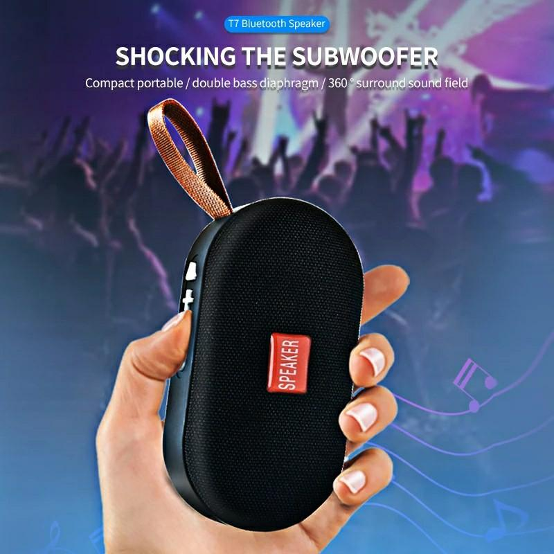 Mini Bluetooth Speaker Portable Wireless Loudspeaker Sound System 3D Stereo Music Surround Outdoor Speaker Support FM TFCard
