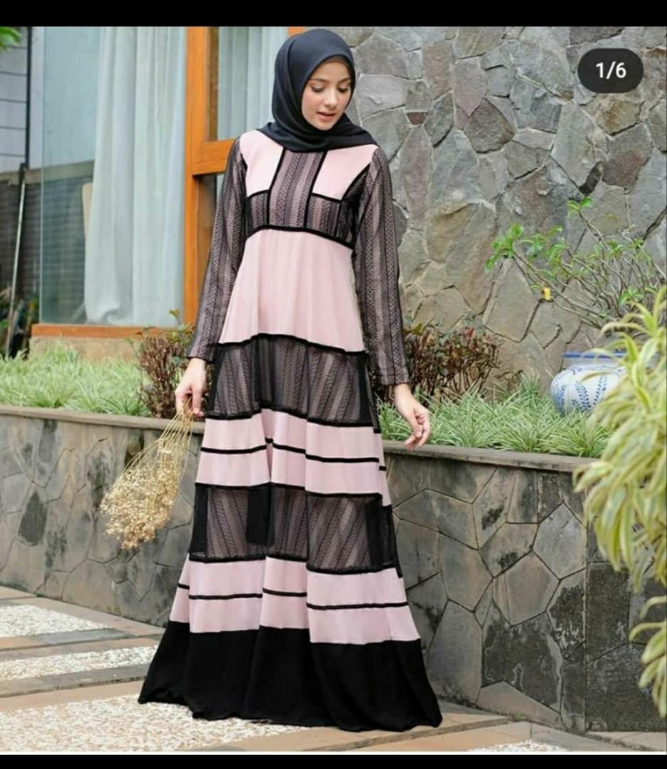 Naimah Dress By Javina Ori Fesyen Wanita Muslim Fashion Gaun Di Carousell