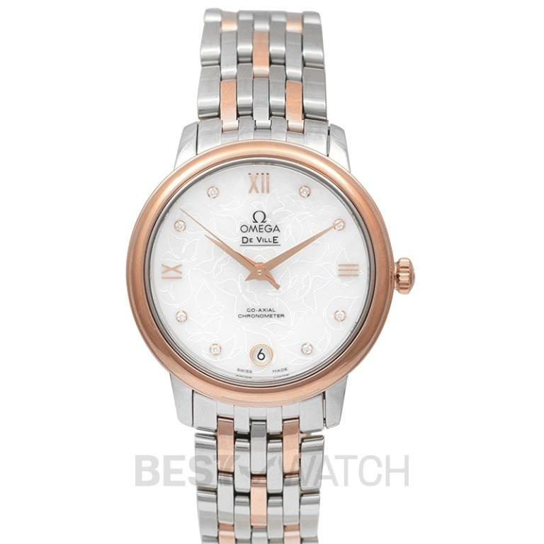 [NEW] Omega De Ville Prestige Butterfly Co-Axial 32.7 mm Automatic Mother of pearl Dial Diamonds Rose Gold Ladies Watch 424.20.33.20.55.001