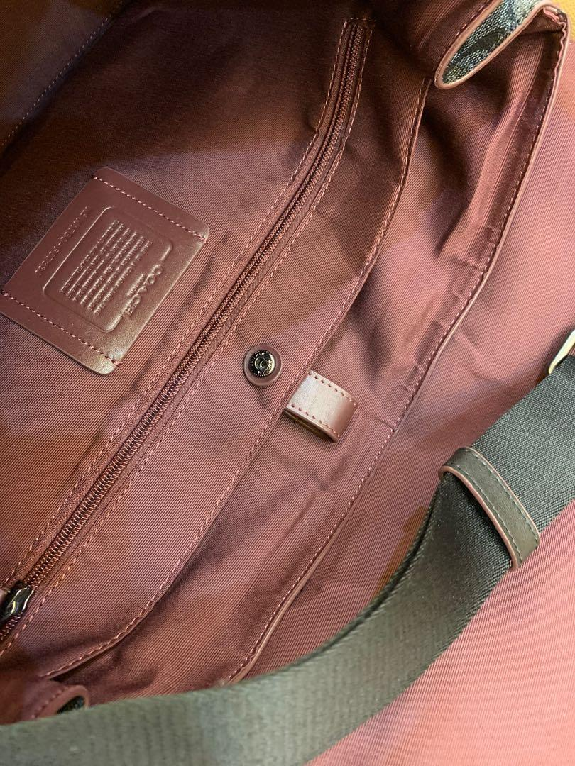 Ready Stock 67330 authentic coach men briefcase crossbody sling bag handbag