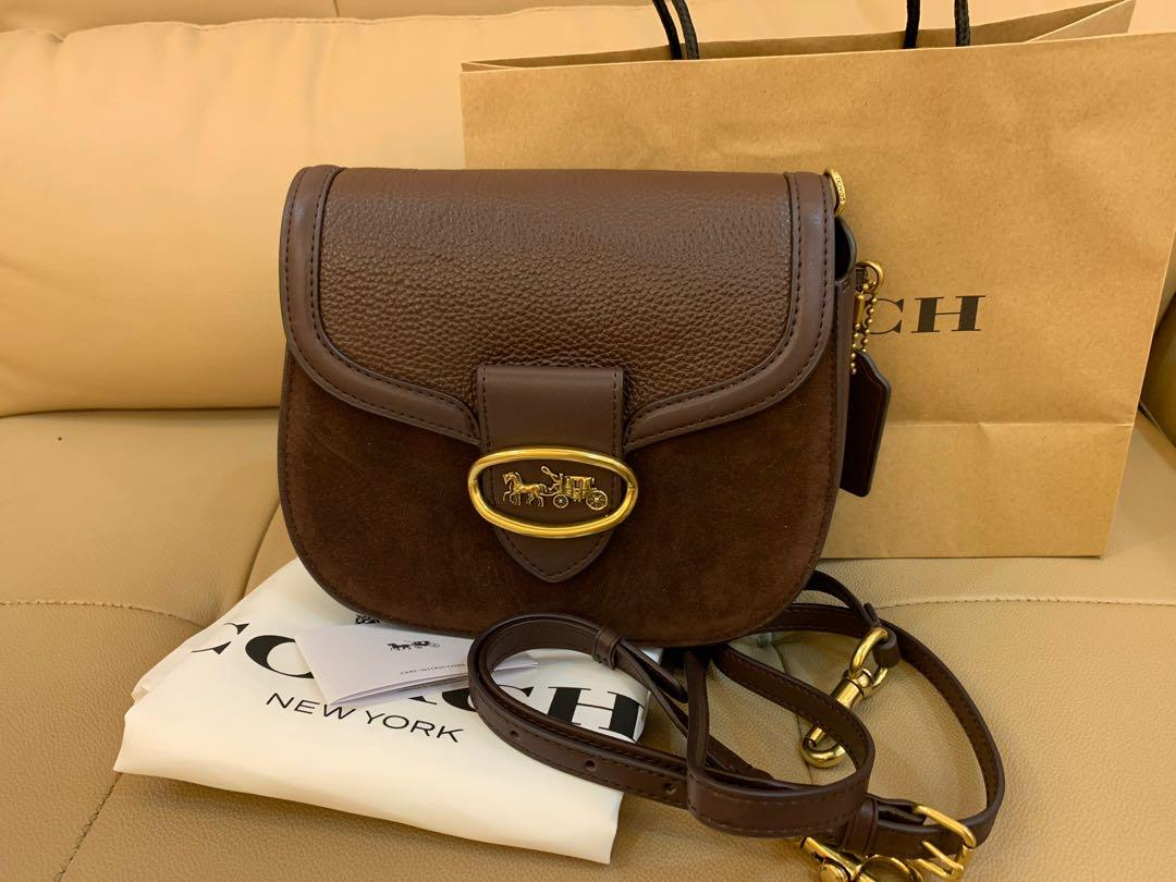 Ready Stock Authentic coach 88263 women Kate saddle bag