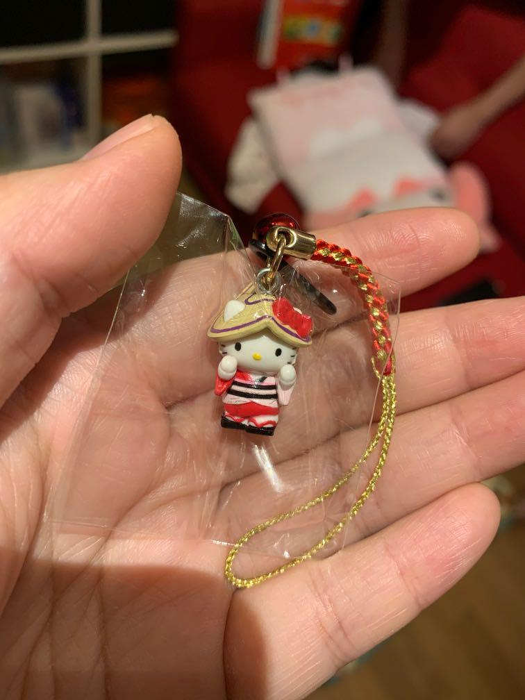Sanrio Hello Kitty 德島阿波連 手信 紀念品 電話繩 mobile phone strap souvenir