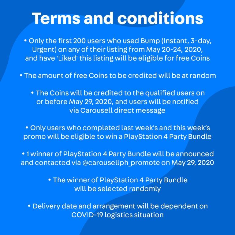 Stand a chance to win PlayStation 4 Bundle 🎮 (PLUS: Get free Coins from May 20-24)