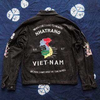 Sukajan Vietnam Era Corduroy Souvenir Jacket