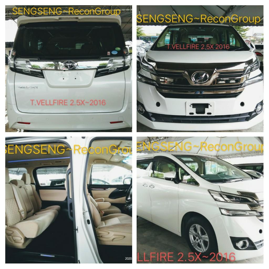 TOYOTA VELLFIRE 2.5 X  2016RECON PRICE ON THE ROAD  RM168,888.88👍👍👍 📲www.wasap.my/0122367272/SengSeng☺🙏