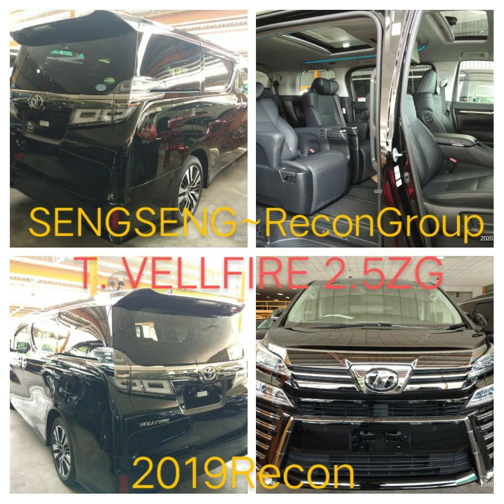 TOYOTA VELLFIRE ZG2.5ZG RECON2019 ON THE ROAD PRICE RM318,888.88👍📲www.wasap.my/0122367272/gsengseng☺🙏