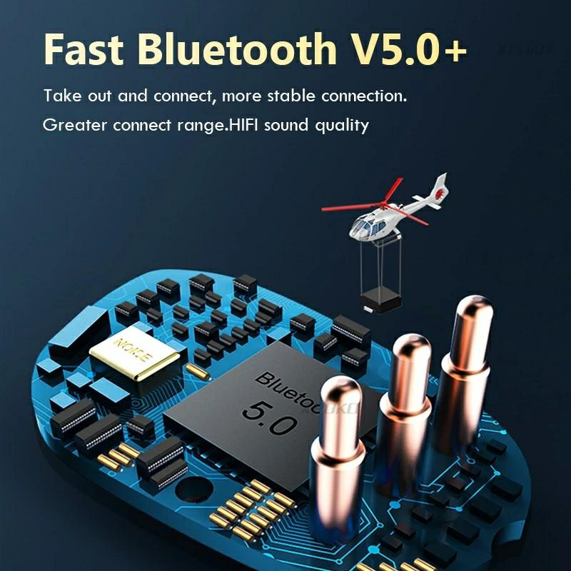Wireless Headphones With Touch Control Bluetooth Earphones 5.0 with Mic Sports Waterproof Headsets Mini In-ear Music Earbuds