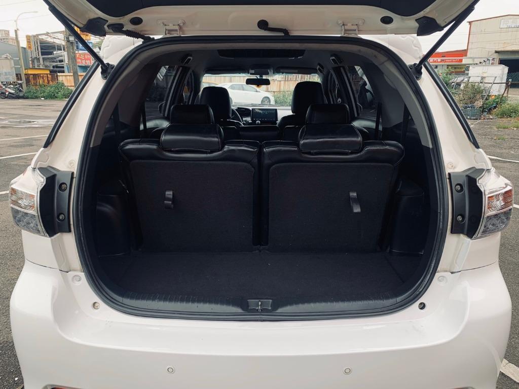 正2011年 最新款Toyota Wish 2.0E高階運動紅縫線皮椅版 原廠星燦白