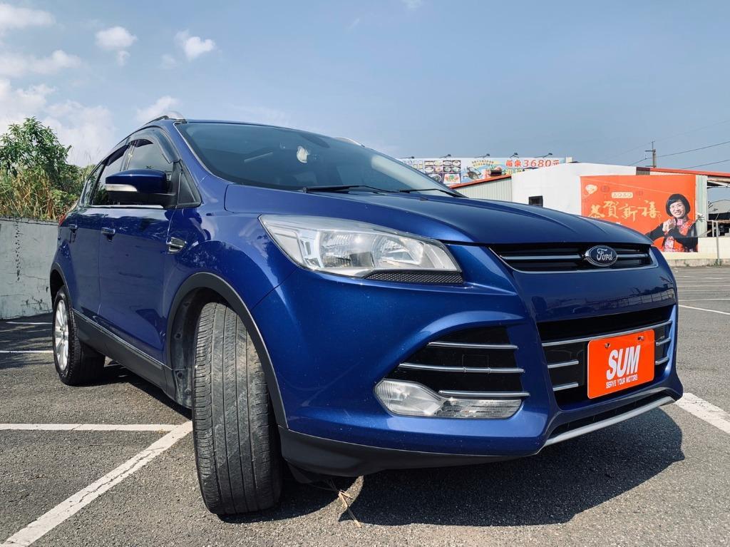 正2014年 最頂級 Ford Kuga 1.6渦輪增壓小休旅,海水藍