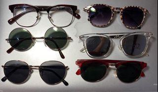 墨鏡/眼鏡 六副賣