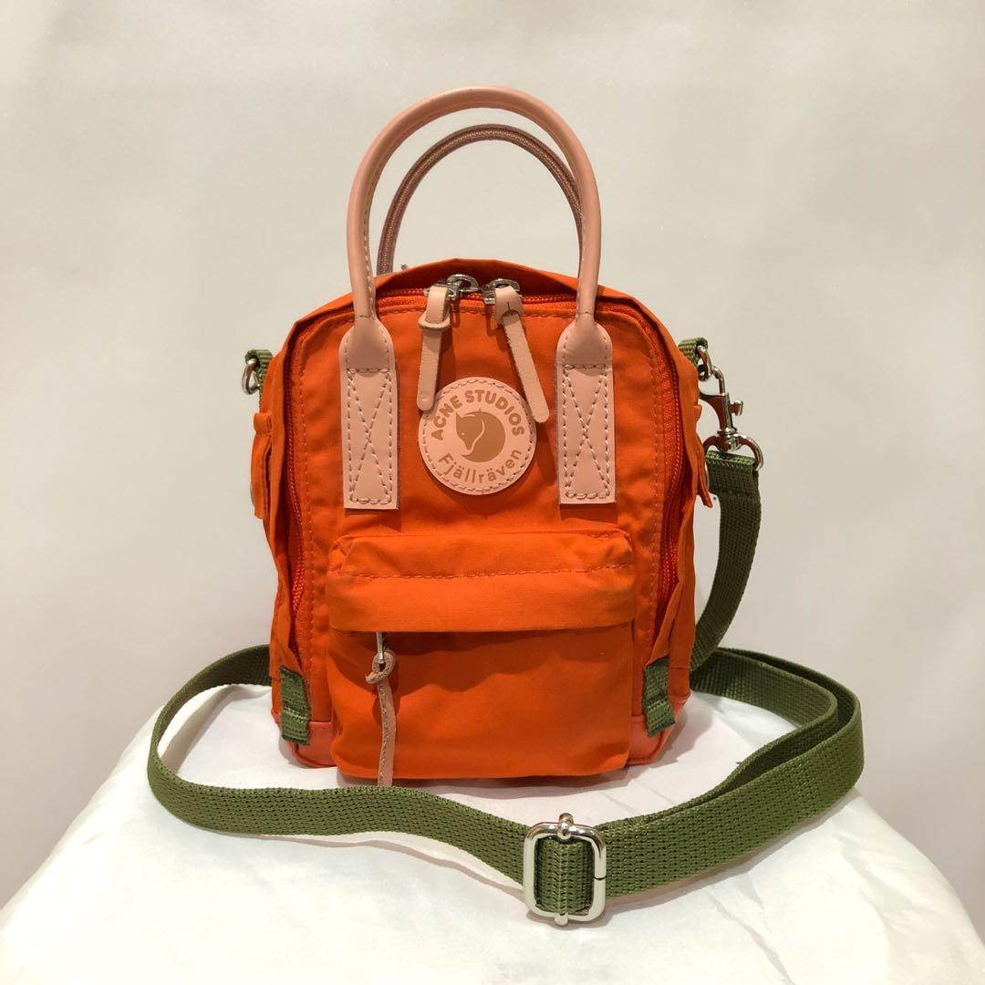 Authentic acne studios fjallraven kanken mini micro orange backpack sling bag crossbody kate spade michael kors coach