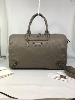 Balenciaga Voyage 24H Travel Bag in Taupe RHW