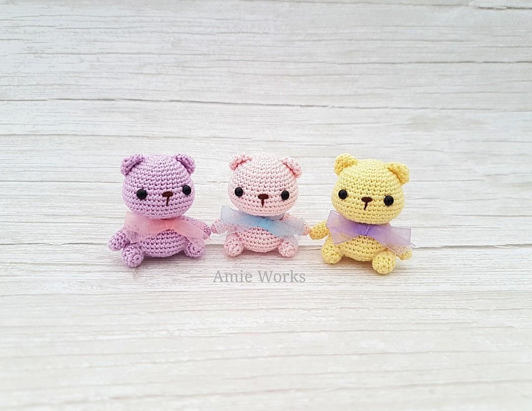 How To Crochet Mini Bear Amigurumi - YouTube | 834x1080