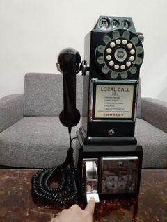 Crosley  經典懷舊😎投幣式復古電話機 (黑色) 經典/玩家收藏 ~ 店家裝飾用品