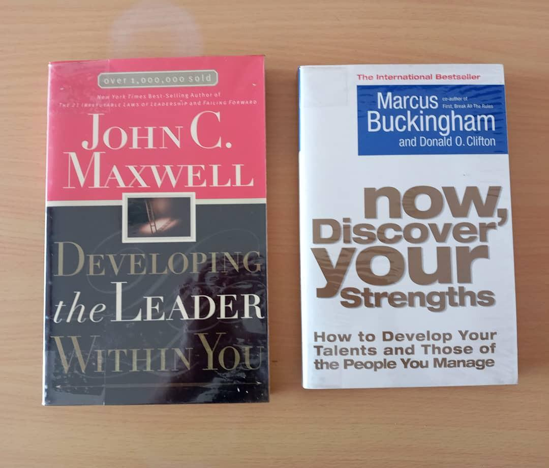 Developing the Leader Within You by John Maxwell and Now, Discover your Strengths by Marcus Buckingham