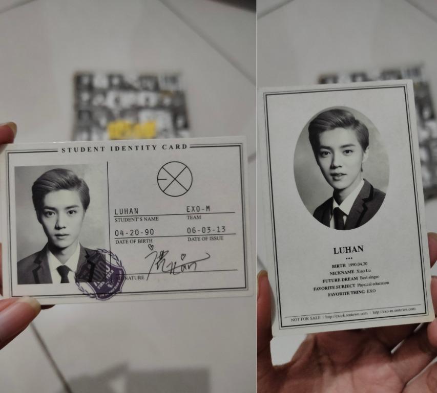 EXO 1st Album : XOXO (Korean version) + photocard (Kris / Luhan / Chen)
