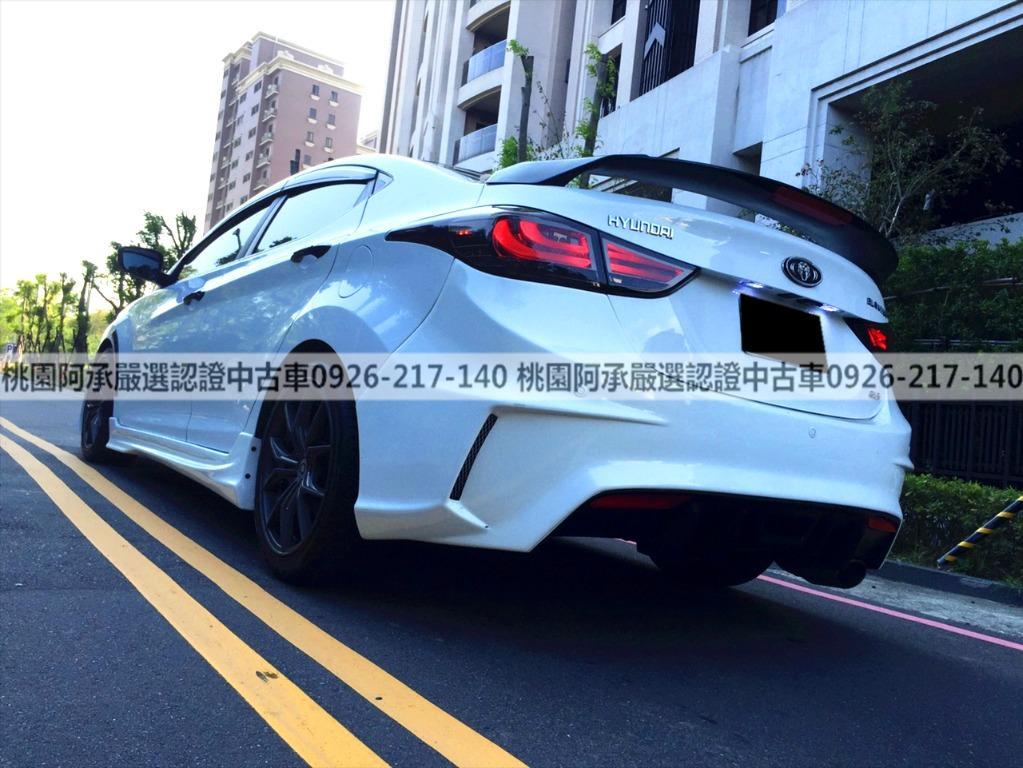 【FB搜尋桃園阿承】現代 超人氣ELANTRA跑4萬 2013年 1.8CC 白色 二手車 中古車