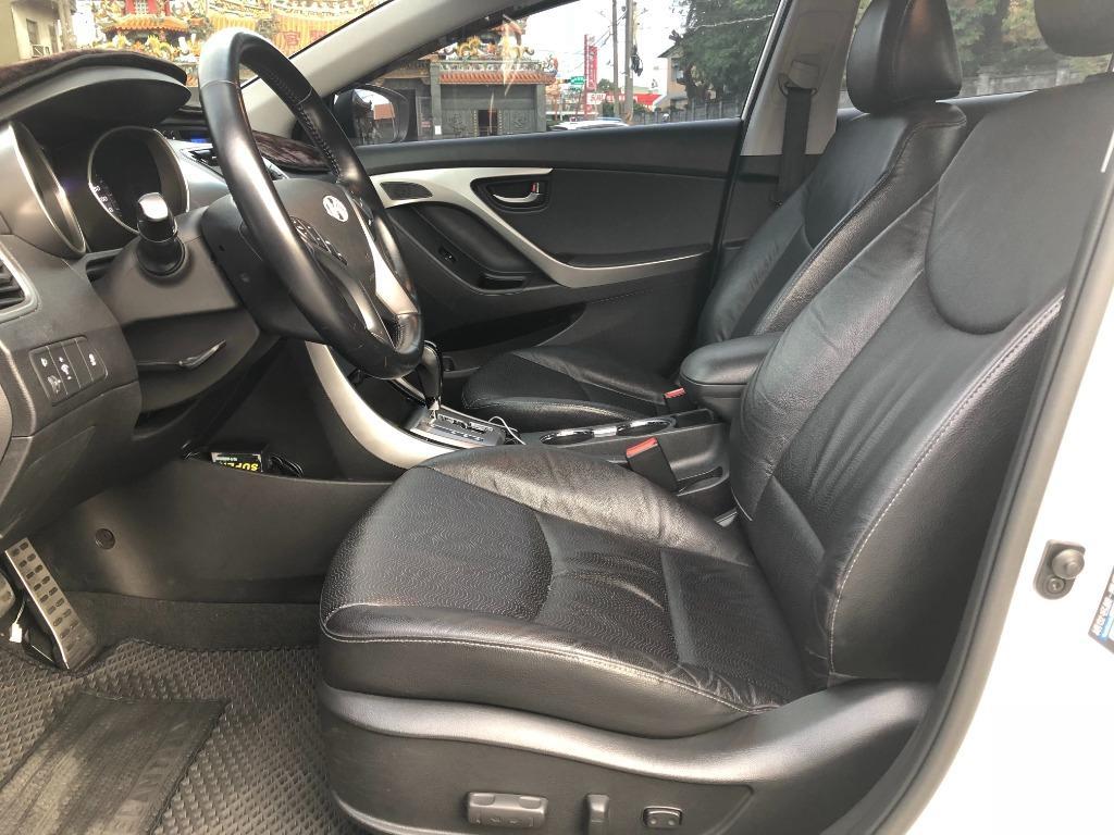 【FB搜尋桃園阿承】現代 超人氣ELANTRA 2013年 1.8CC 白色 二手車 中古車