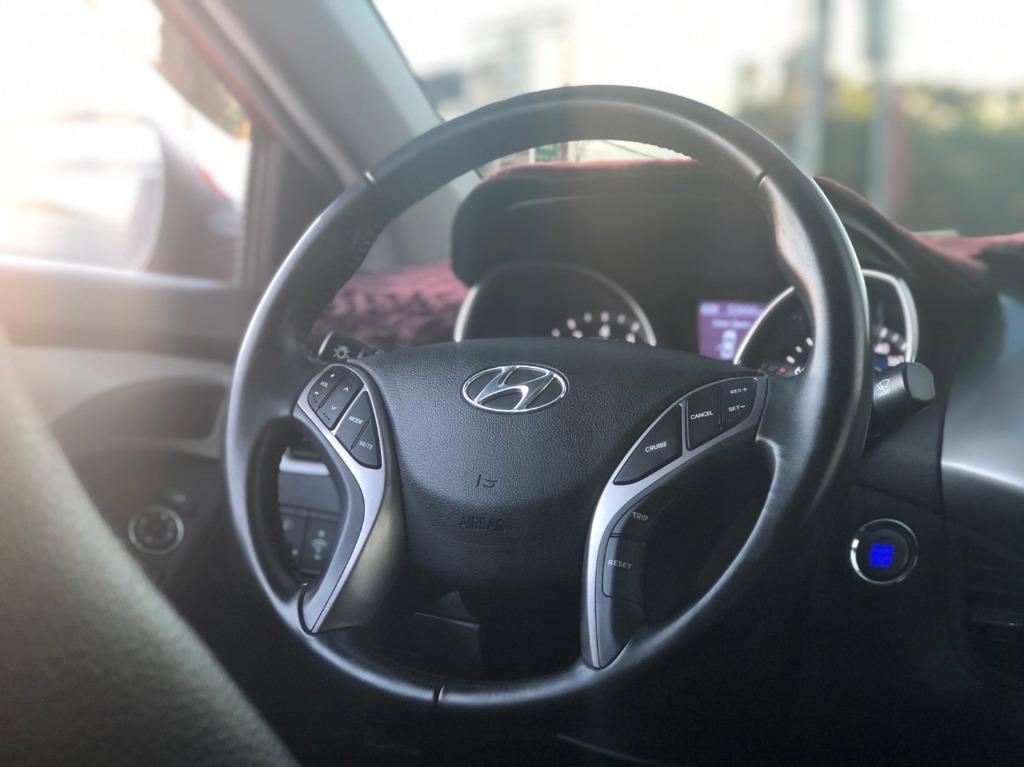 【FB搜尋桃園阿承】現代 超人氣ELANTRA 2014年 1.8CC 紅色 二手車 中古車