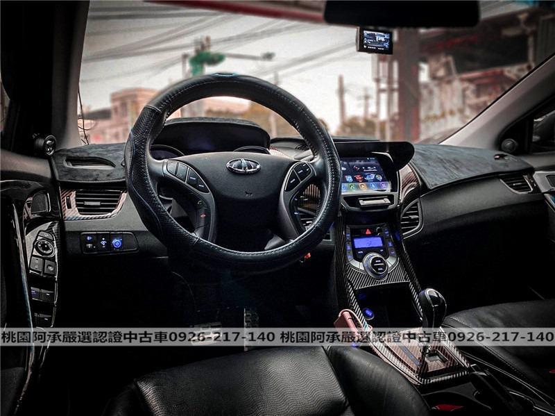 【FB搜尋桃園阿承】現代 超人氣ELANTRA 2014年 1.8CC 黑色 二手車 中古車