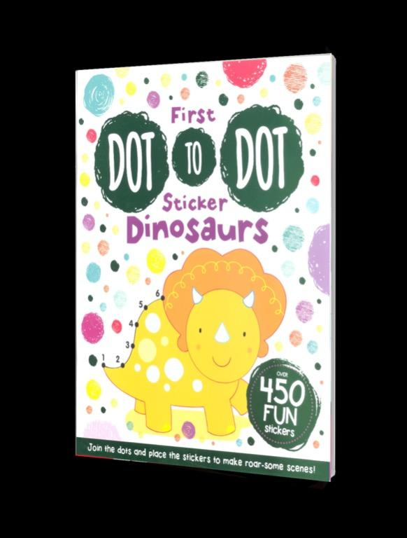 First Dot-to-Dot Sticker Dinosaurs | English | Coloring Book | Sticker Book | Activity Book | Children's Book