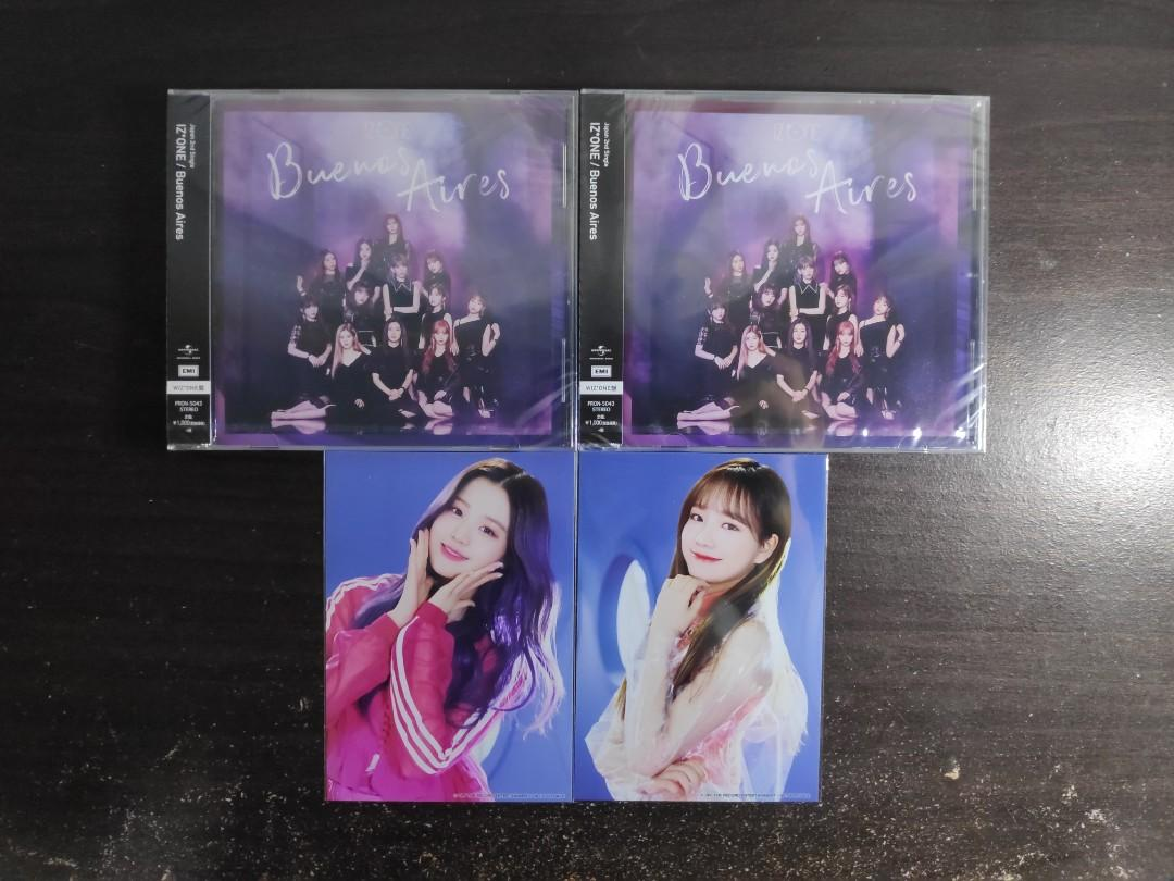 IZ*ONE IZONE Second Single 'Buenos Aires' WIZONE CD Ver. + Bromide