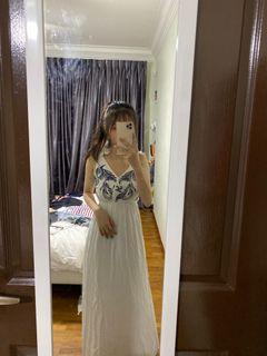 long egyptian inspired dress