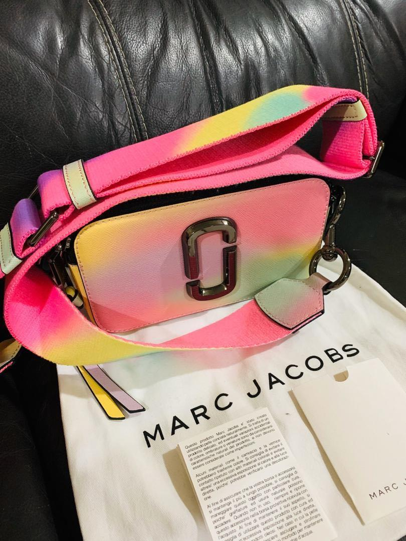 Marc Jacobs Mukticolor Small Airbrush snapshoot Camera Bag. Saffiano Leather