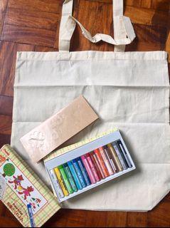 Pentel DIY hand painted bag kit