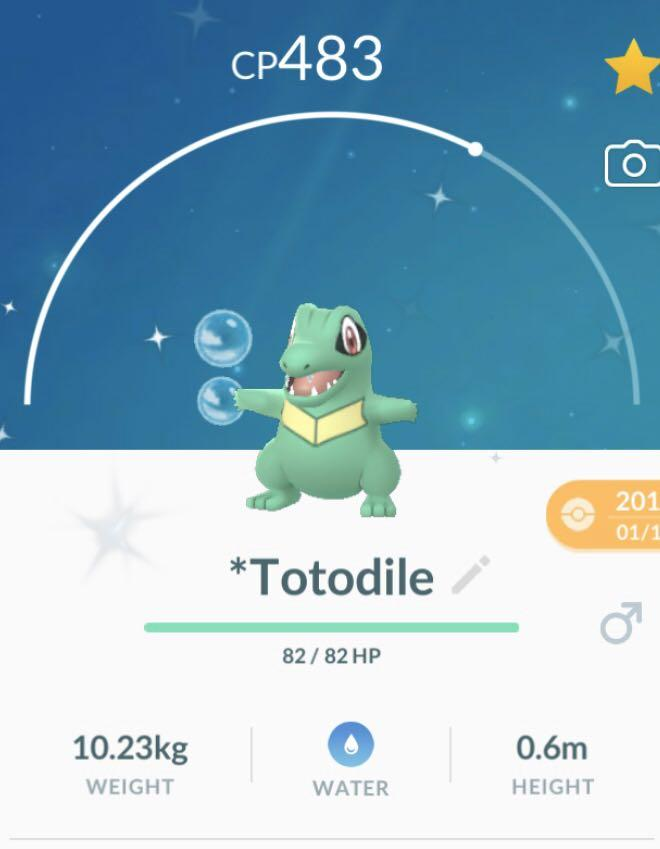 Shiny Totodile Pokemon Go Toys Games Video Gaming In Game Products On Carousell This list does not contain shiny pokemon with costumes. carousell