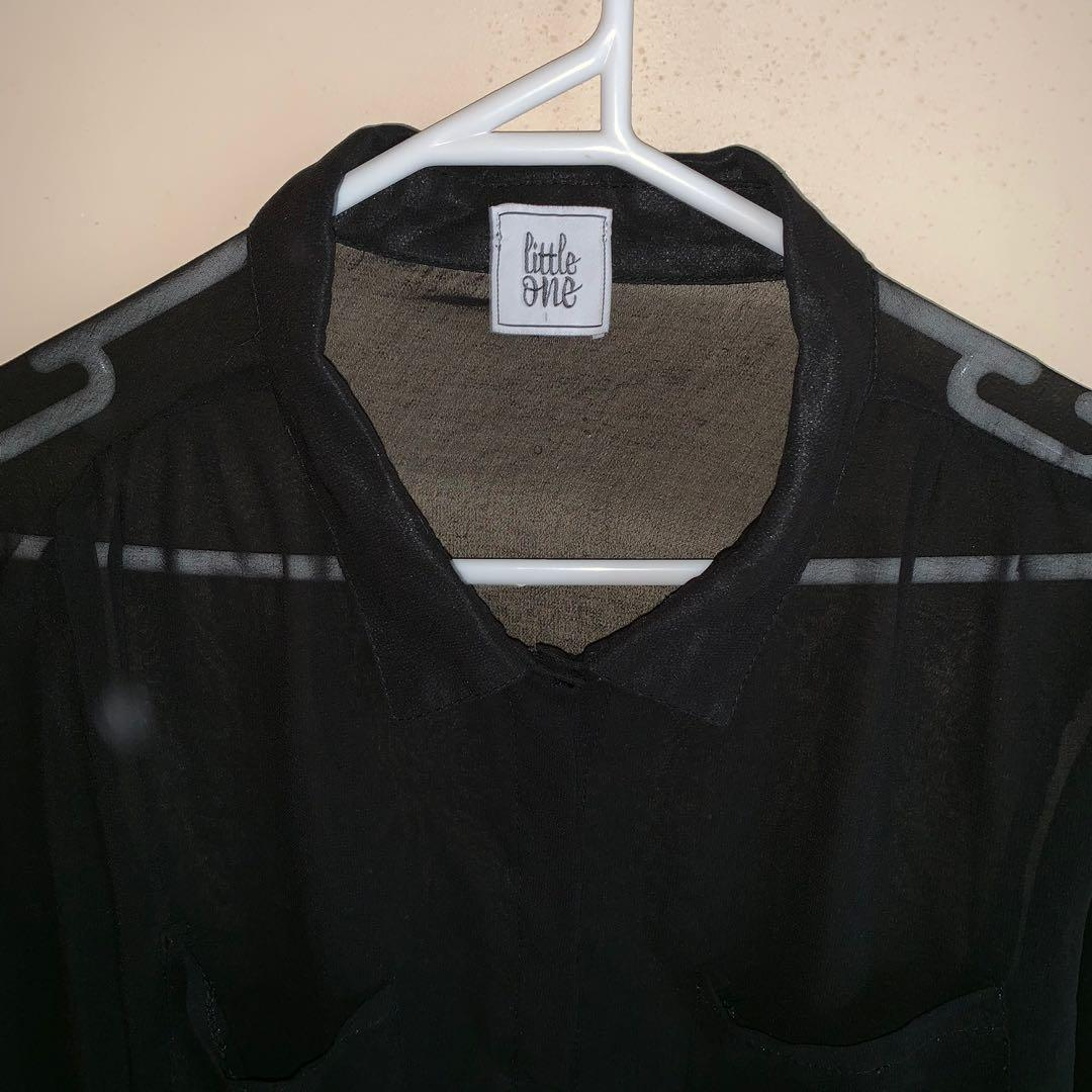 Size 14 mesh/sheer top