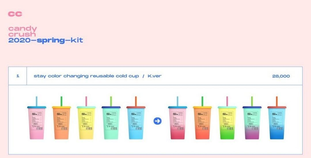'stay' Reusable Color Changing Cold Cup Collection BY @candycrush0506