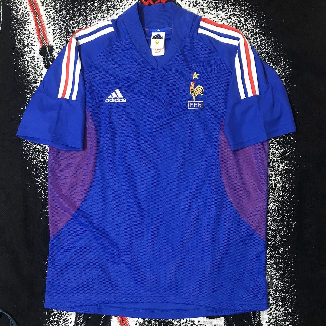 Vintage 01 France Home Kit Zinedine Zidane Jersey By Adidas Sports Athletic Sports Clothing On Carousell