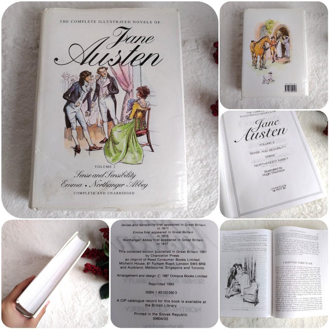 VINTAGE The Complete Illustrated Novels of Jane Austen Volume 2: Sense and Sensibility, Emma, Northanger Abbey, Complete and Unabridged (Hardbound) 1993
