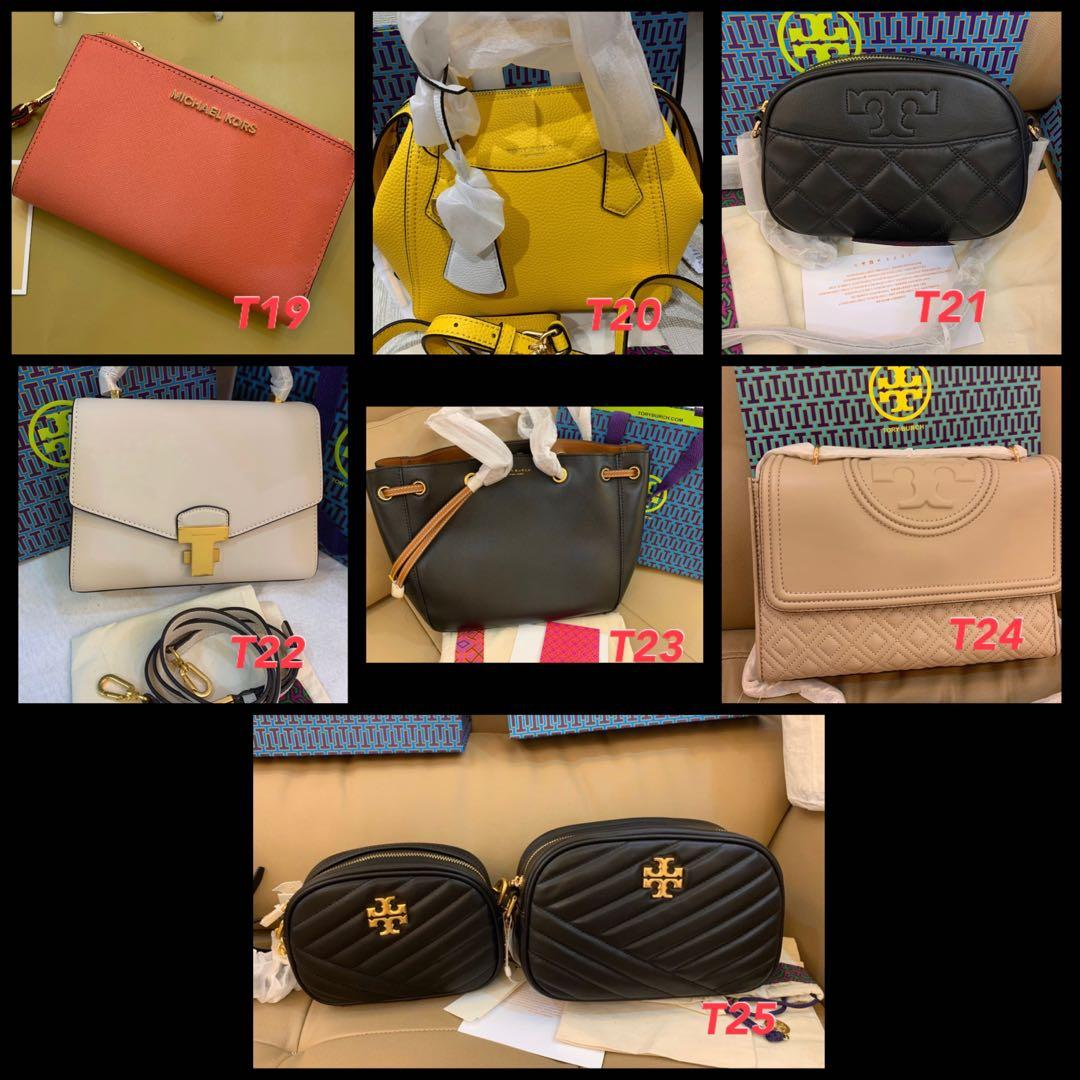(20/05/20)Ready Stock Authentic Tory Burch women bag sling bag wallets clutch watches coach and Marc Jacobs ready stock belt bag Michael kors MJ