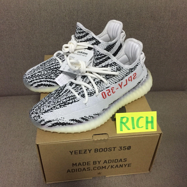 Adidas Yeezy Boost 350 Zebra size 7.5