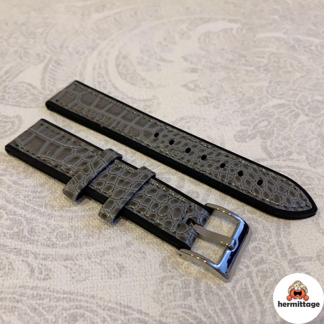 BRAND NEW 20MM RUBBER/ LEATHER WATCH STRAP, HIMALAYAN GREY (suitable for rolex tudor omega seiko cartier hamilton etc)
