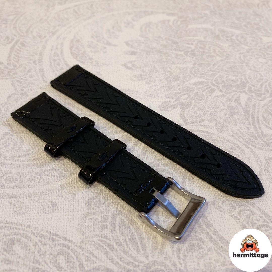BRAND NEW 20MM RUBBER/ LEATHER WATCH STRAP, BLACK (suitable for rolex tudor omega seiko cartier hamilton etc)