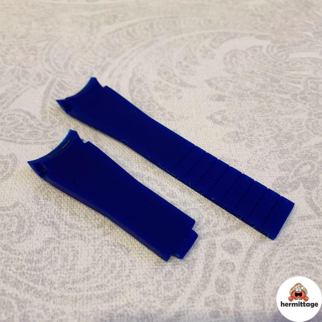 BRAND NEW 20MM RUBBER WATCH STRAP, BLUE (suitable for rolex gmt submariner daytona yachtmaster explorer hulk batman rootbeer smurf, alternative/ aftermarket rubber b)