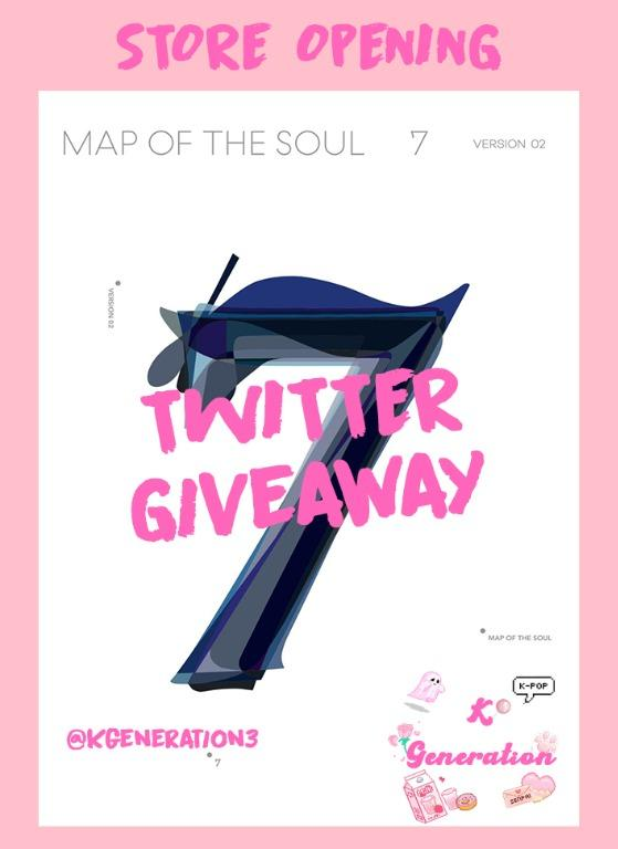 BTS Map of the Soul 7 Version 2 Album Twitter Giveaway